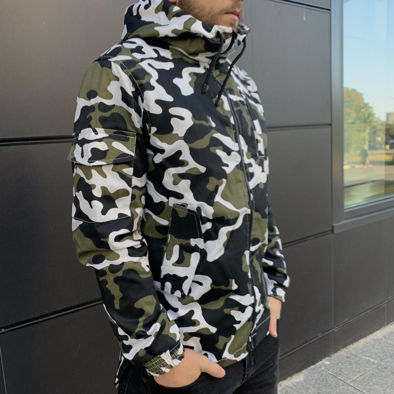 Куртка демисезонная Off White military , Камуфляж, Штормовка, РАСПРОДАЖА Размеры С и М