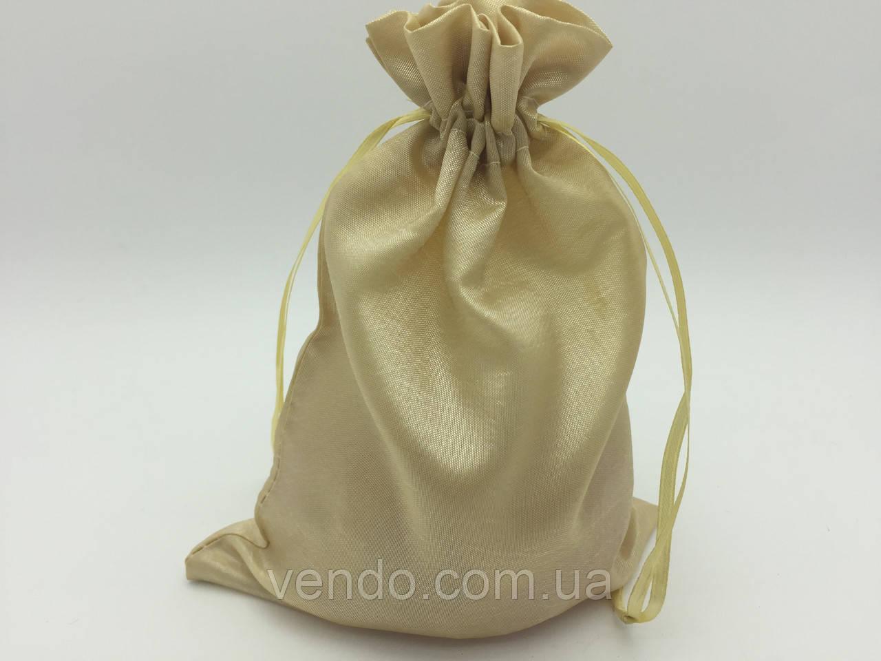 Чехол для карт таро, мешочек из сатина Бежевый,14х20 см