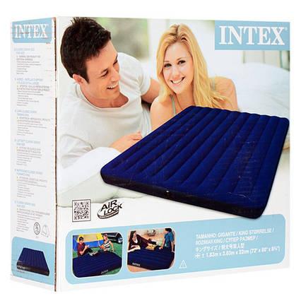 Матрас двухместный надувной Intex 68755