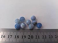 Голубой  Агат Натуральный 0,8 см