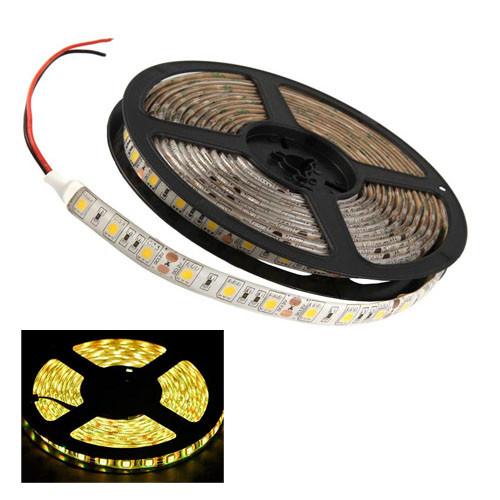 5м лента светодиодная, 300x 5050 SMD LED, желтая
