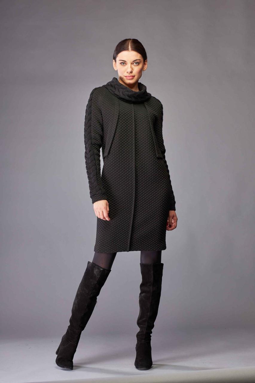 Платье черное с вязкой Marshal Wolf