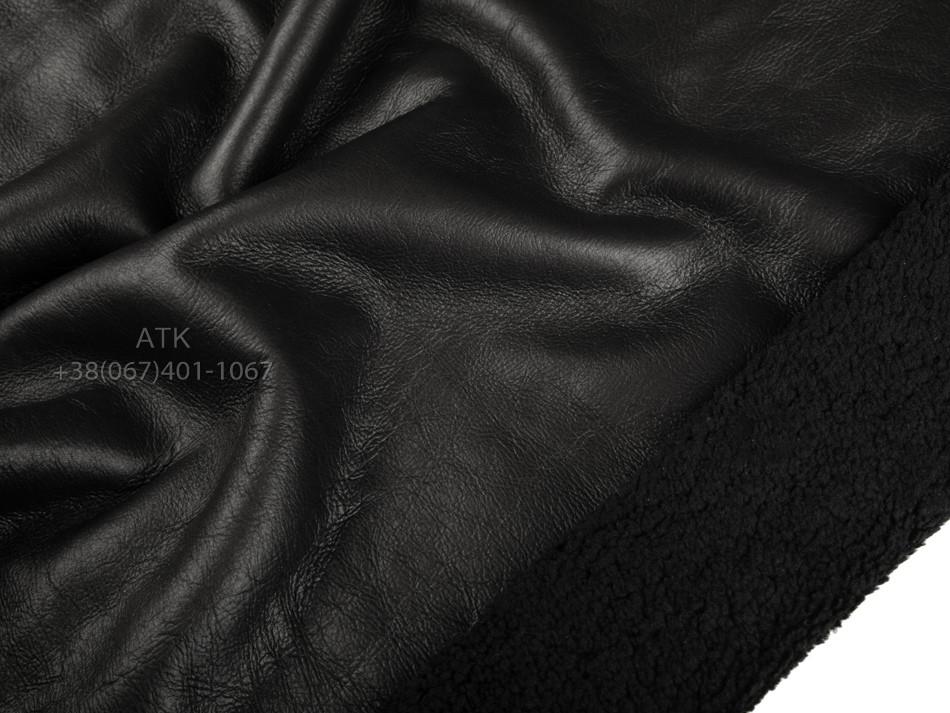 Дубленочный мех Интерфино черный с мехом ричолино