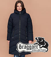 Braggart Youth 25015 | Зимняя куртка женская большого размера темно-синяя
