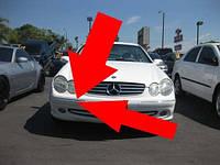 Mercedes CLK W209 W 209 правый хром молдинг в передний бампер правый новый оригинал