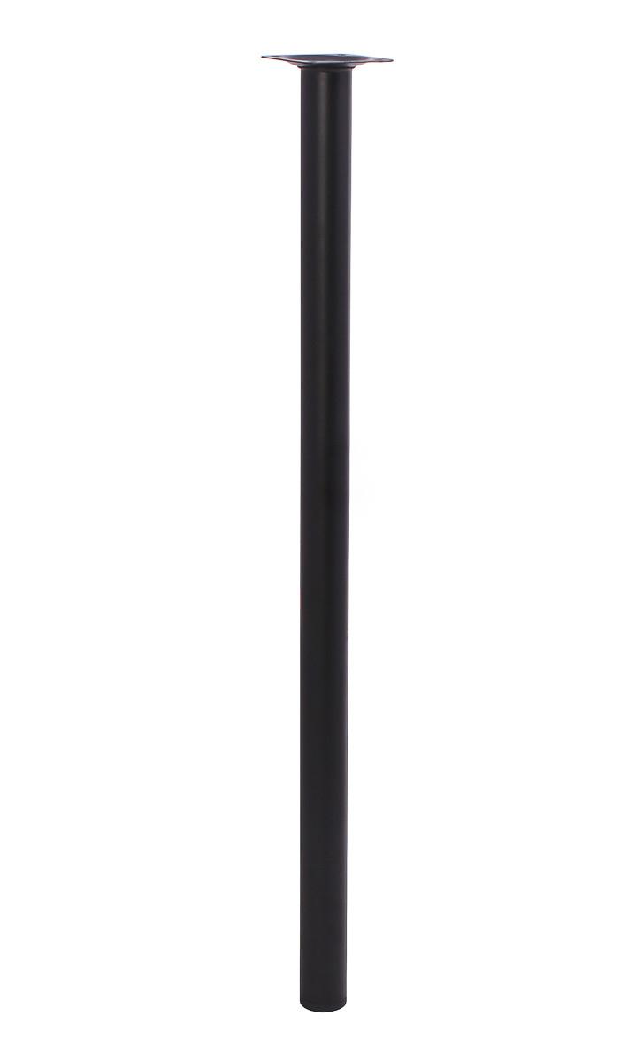 Мебельная нога Larvij 600 x 30 мм черная (L61R60BL30). Мебельная ножка. Мебельная опора. Круглая