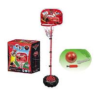 Детская баскетбольная стойка Тачки: мяч, насос, гаечный ключ в комплекте