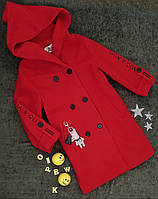 Пальто на девочку, р. 140, 150, 160, красный, фото 1