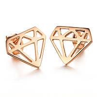 """Серьги позолоченные """"Diamond"""", фото 1"""