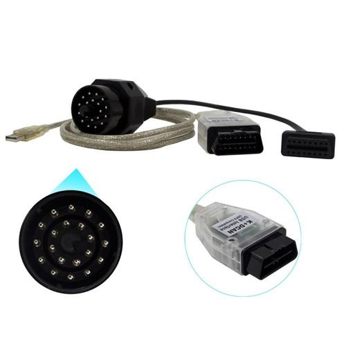 K+DCAN INPA USB сканер диагностики авто для BMW + 20pin переходник, фото 1