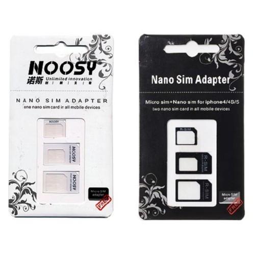 Nano, Micro Sim адаптер 3в1, переходник iPhone 4 5 + скрепка