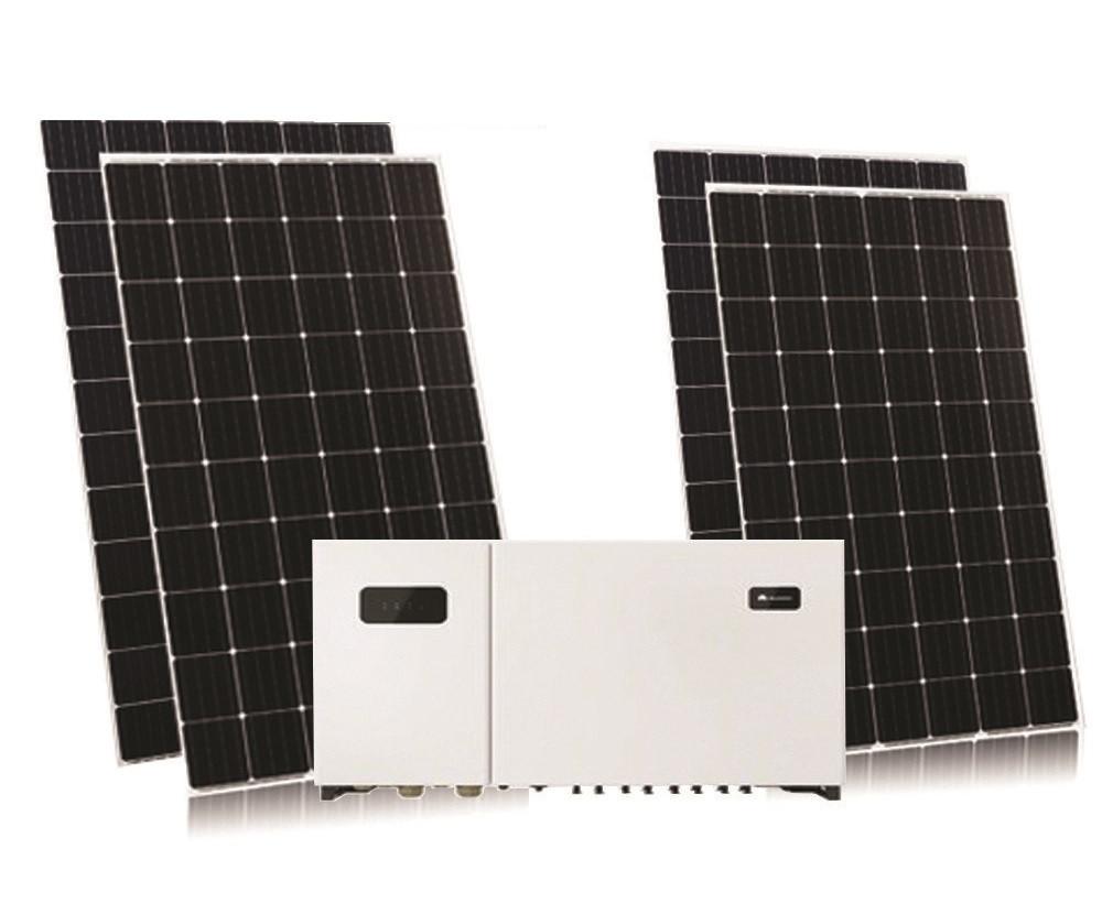 Комплект на 30кВт інвертор Huawei SUN2000 33 KTL-A + Risen 370 mono PERC