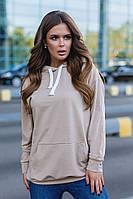 Женский спортивный свитер с капюшоном