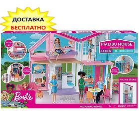 Дом Мечты Барби Малибу Двухэтажный на 6 комнат / Barbie Malibu House FXG57