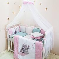 Балдахин Маленькая соня Akvarel с розовым шарфиком детский арт.053509