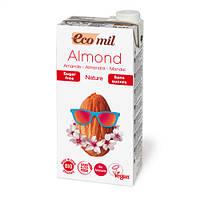 Органическое миндальное молоко без сахара, 1 л EcoMil