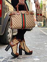 New!! Женские демисезонные ботинки на каблуке Guссі