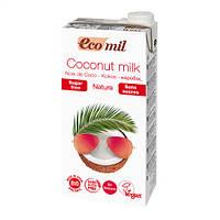 Органическое растительное молоко кокоса без сахара 1 л, EcoMil