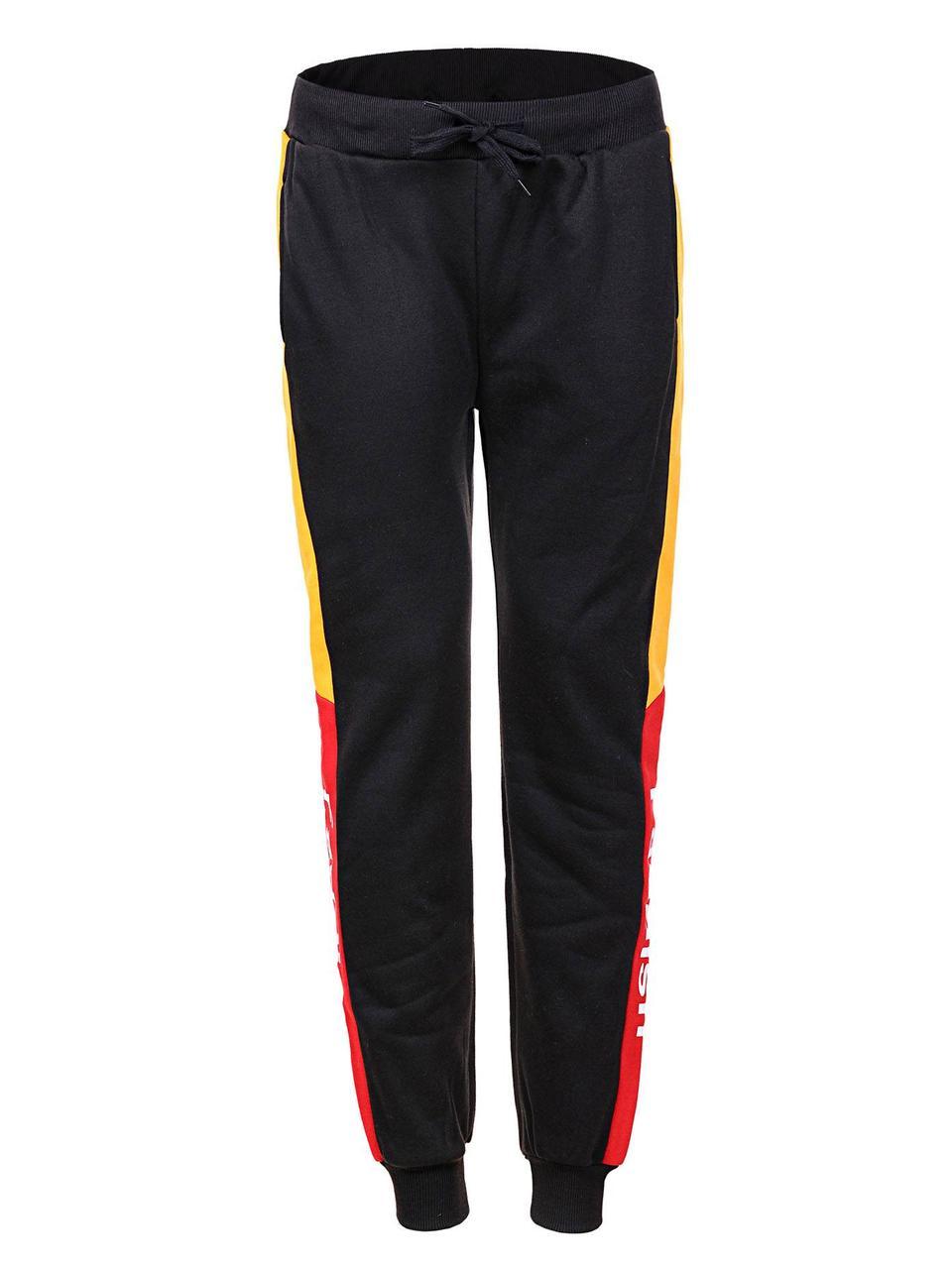 Оригинальные Мужские Спортивные Штаны MRT-9324 Black/Yellow/red