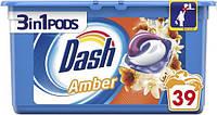 Капсули для прання універсального білизни Dash Ambra квітковий 3 в 1 39 шт