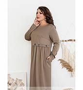/ Размер 52,54,56,58 / Женское простое, но очень стильное платье / 101-01-Мокко, фото 2