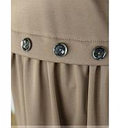 / Размер 52,54,56,58 / Женское простое, но очень стильное платье / 101-01-Мокко, фото 3