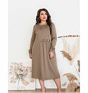 / Размер 52,54,56,58 / Женское простое, но очень стильное платье / 101-01-Мокко, фото 4