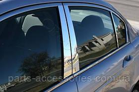 Mercedes E W212 W 212 хромовые накладки на стойки комплект 6 штук 2009-2015
