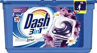 Капсулы для стирки универсал цветочный Dash Lavander Лаванда 3 в 1 39 шт, фото 1