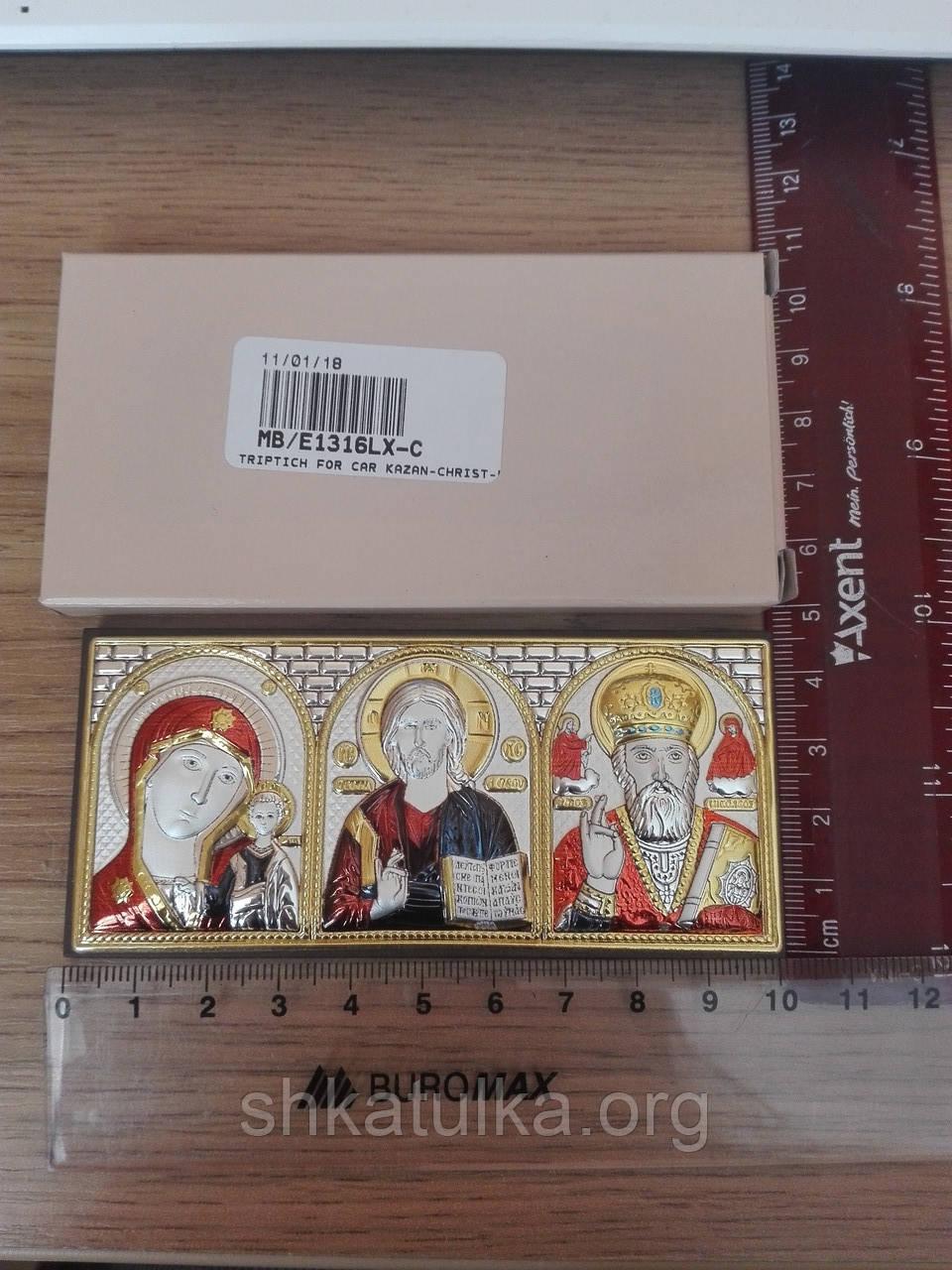 Ікона Казанська Богородиця Спаситель Святий Миколай
