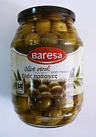 Оливки зеленые с косточкой BARESA 950гр