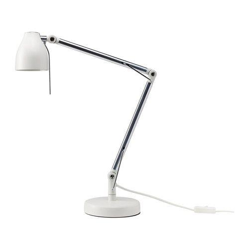 """IKEA """"ТРОЛЬ"""" Лампа рабочая, белый"""