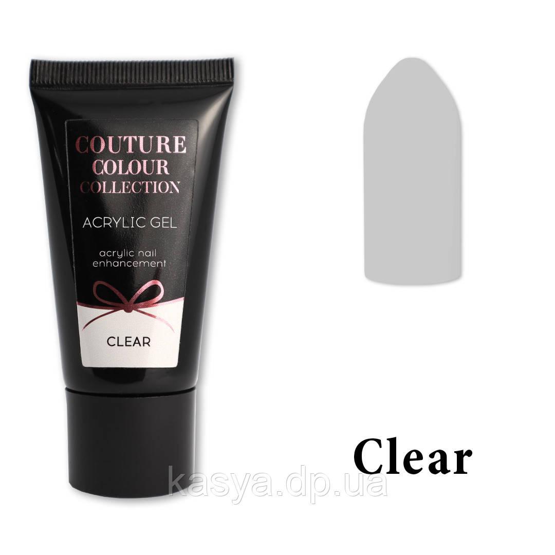 Акрил-гель Couture Colour Clear, 30 мл