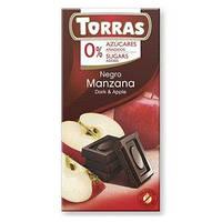 "Чорний шоколад з яблуком ""Torras"", 75 г"