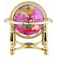 Глобус  с напылением самоцветных камней (большой)