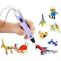 3D ручка PEN-2 с Led дисплеем, 3Д ручка 2 поколения Smartpen, MyRiwell цвет фиолетовая