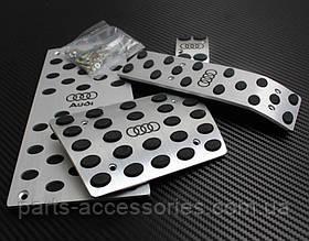 AUDI Q7 автомат накладки на педали с подножкой алюминий 2007-