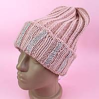 Зимняя шапка для девочки стразы тм Nikola