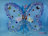 Для девочки комплект Феи с бабочками карнавальный 3в1 крылья обруч волшебная палочка