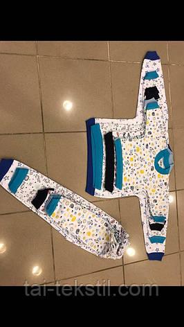 Пижама детская байковая с манжетами Турция 1-6 лет, фото 2
