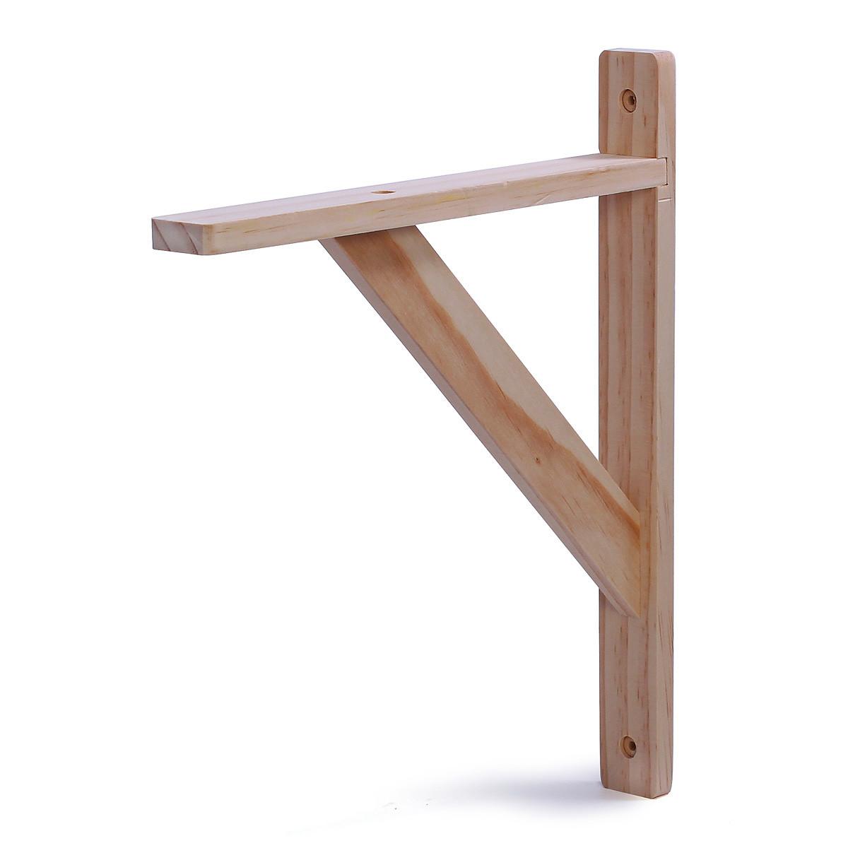 Кронштейн для полок Larvij деревянный 250 х 30 х 300 мм Сосна.  Крепление для полок. (L5102)