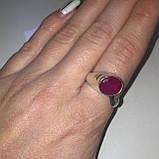 Рубин необычное кольцо с камнем рубин размер 18,3. Кольцо с рубином Индия!, фото 5