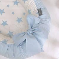 Кокон Маленькая Соня Baby Desing Stars голубой детский арт.5019373