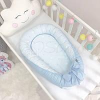 Кокон Маленькая Соня Baby Desing Stars Звезды на голубом детский арт.5019375
