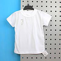 Детская универсальная  футболка белого цвета размер  56, 64