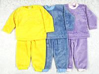 Пижама, р.86 ,велсофт (синяя)