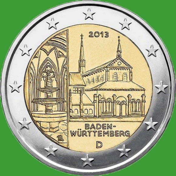 Германия 2 евро 2013 г. Баден - Вюртемберг. UNC