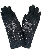 Перчатки теплые женские черные 020А