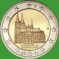 Германия 2 евро 2011 г. Северный Рейн-Вестфалия. UNC