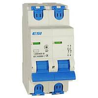 Модульный автоматический выключатель 6 кА, 2 п, 32А, С